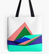 Pink Hills, Generative Art, Data Visualisation Tote Bag