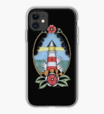 Traditional Nautical Tattoo Lighthouse Pastel iPhone Case