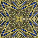 Peacock Feathers Mandala Kaleidoscope Abstract 2 by Artist4God