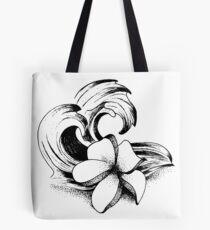Plumeria Wave Tote Bag