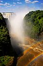Victoria Falls, from the bridge, Zambia, Africa. by PhotosEcosse