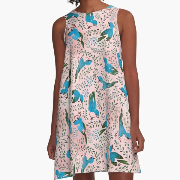 Birds in spring A-Line Dress