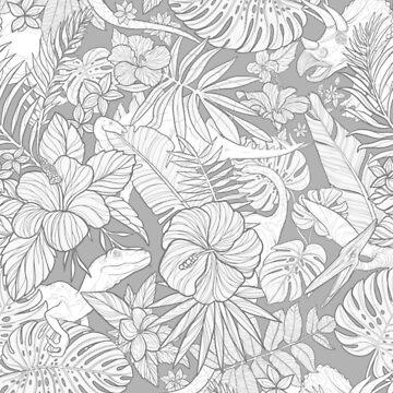 Flora & Fauna (b/w) by Rougaroux