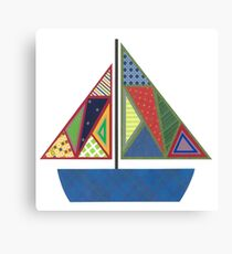 Kids Sailboat Canvas Print
