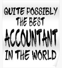 Quite Possibly The Best Accountant In The World Poster