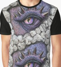 Purple Dragon Eye Graphic T-Shirt