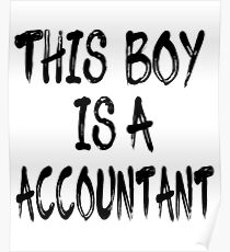 The Boy is a Accountant Poster