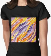 Sunset dolphins Polynesian inspired  Women's Fitted T-Shirt
