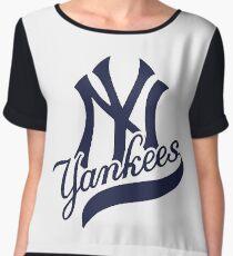 Yankees Chiffon Top
