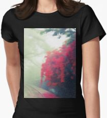 Train Track Nature Walk Women's Fitted T-Shirt