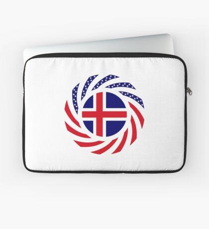 Icelandic American Multinational Patriot Flag Series Laptop Sleeve