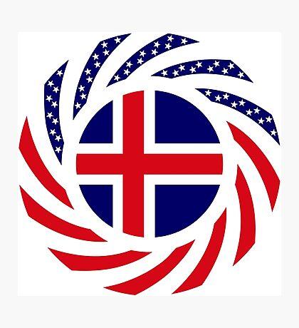 Icelandic American Multinational Patriot Flag Series Photographic Print