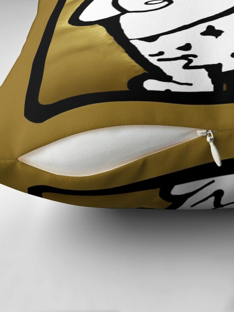 Alternate view of SCRATCH, The Original Caveman Throw Pillow