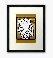 SCRATCH, The Original Caveman Framed Print