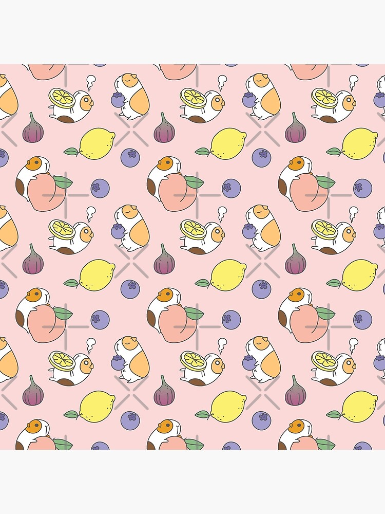 Guinea pigs with fruits pattern by Miri-Noristudio