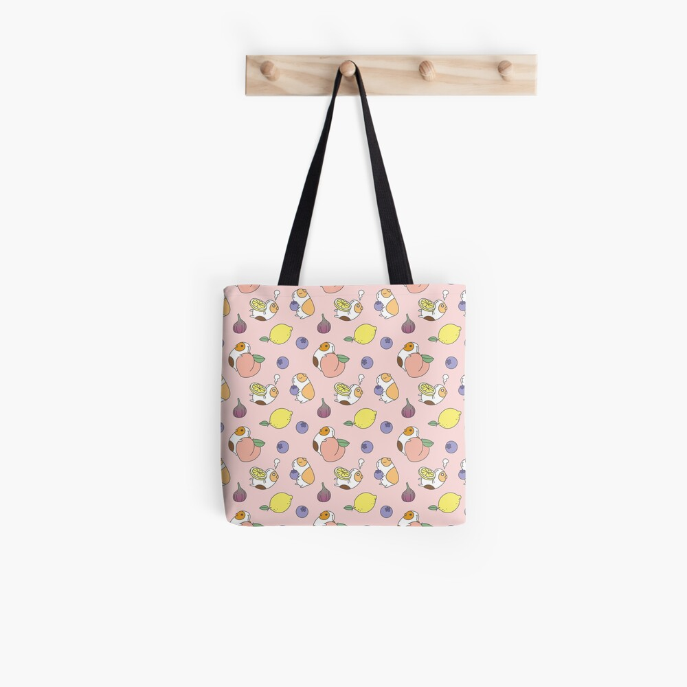 Guinea pigs with fruits pattern Tote Bag