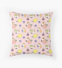 Guinea pigs with fruits pattern Throw Pillow