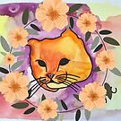 Tabby Cat Flower Crown by Meganpotoma