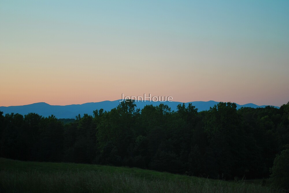 Sunset on the Blue Ridge Mountains by JennHowe