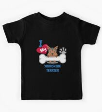 Yorkshire Terrier - I Love My Yorkshire Terrier Gift Kids Tee