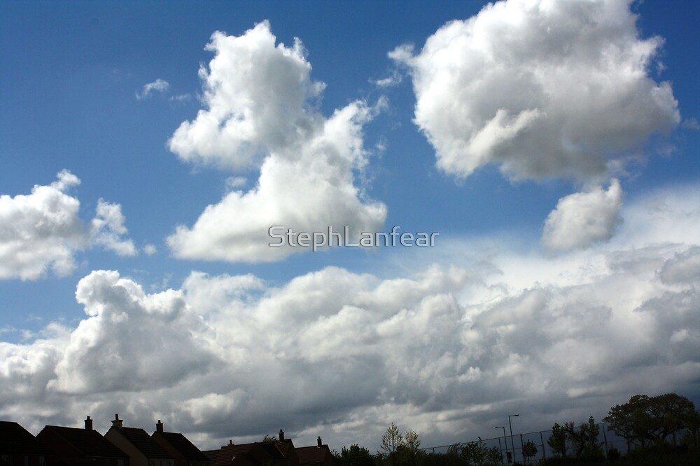 Uk Shaped Cloud by StephLanfear