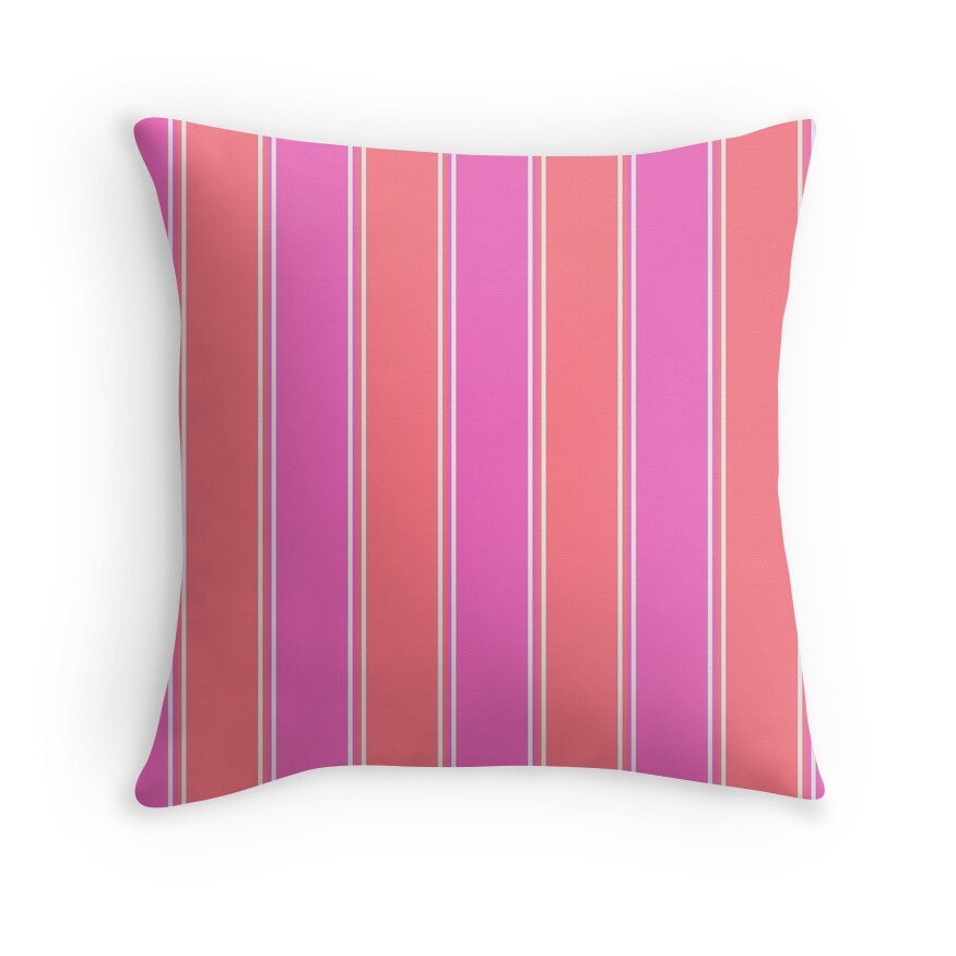 Pink and White Cabana Tent Stripe