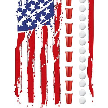 Beer Pong Drinking Game American Flag by dealzillas
