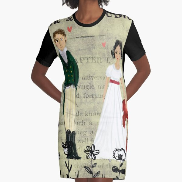 Mister Darcy and Miss Bennet Graphic T-Shirt Dress