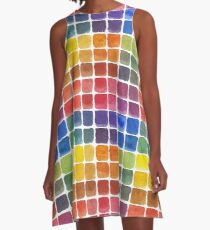 Mix it Up! - Watercolor Mixing Chart A-Line Dress