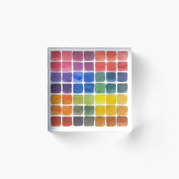 Mix it Up! - Watercolor Mixing Chart Acrylic Block