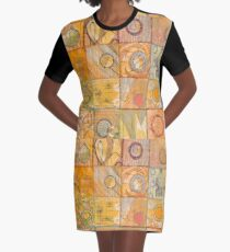 Poetry Exisits on Every Planet Graphic T-Shirt Dress