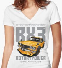 Mazda RX3 Women's Fitted V-Neck T-Shirt