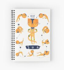 Yogini Cat Spiral Notebook