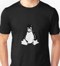 Tux Mascot Hoodie Penguin Linux Black White Logo Unisex T-Shirt