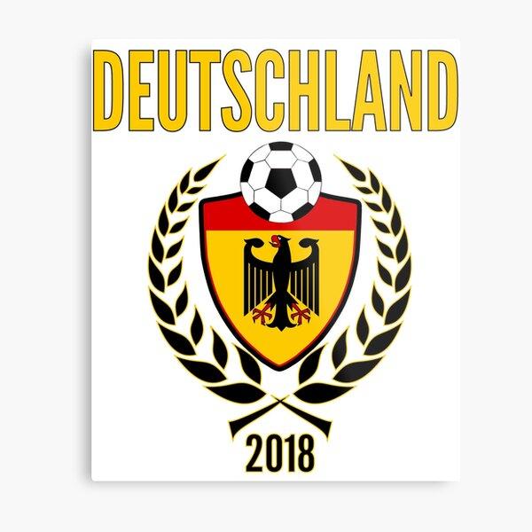 Germany Soccer Jersey 2018 Fussball WM Trikot World Football Cup Metal Print