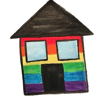 Rainbow house by Empaddon