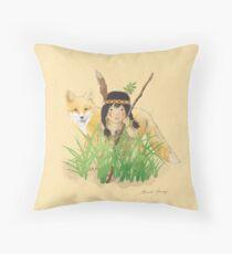 Catori Stalks Like a Fox Throw Pillow