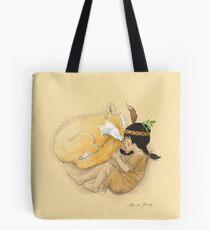 Catori Sleeps Like a Fox Tote Bag
