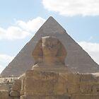 The Sphinx guarding the pyramids by Ciccio349