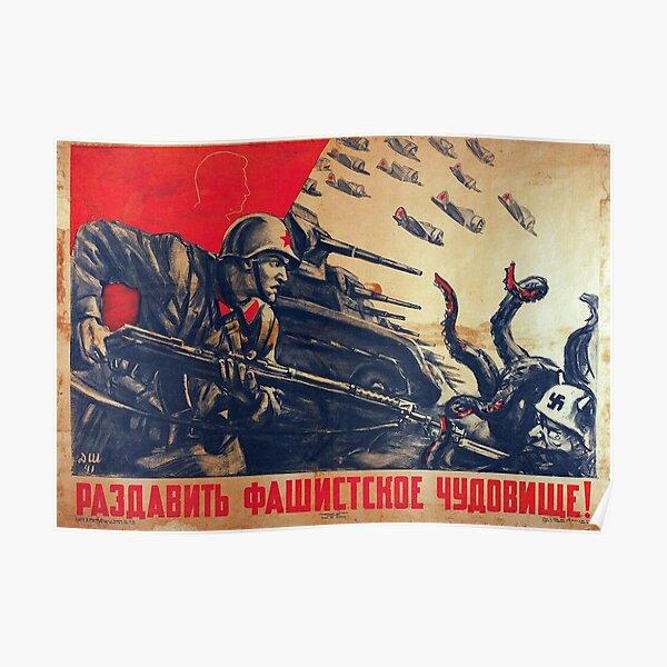 Crush the fascist monster! Poster