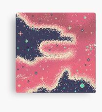 Pink Midnight Galaxy (8bit) Canvas Print