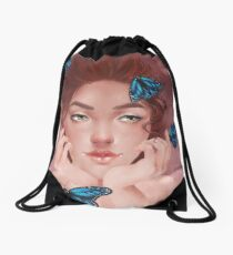 Lost in thoughts  Drawstring Bag