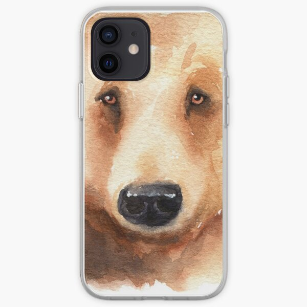 Grizzly Bear Watercolor iPhone Soft Case
