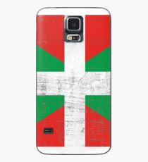 Scratched Basque Country flag Case/Skin for Samsung Galaxy