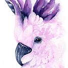 Mythical Cockatoo Watercolor  by Denise Soden