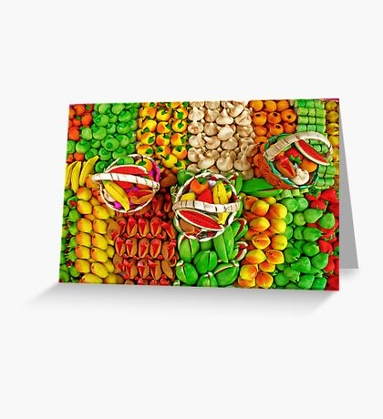 Colorful Marzipan Fruits Greeting Card