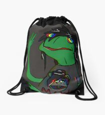 Emo Froggy Drawstring Bag