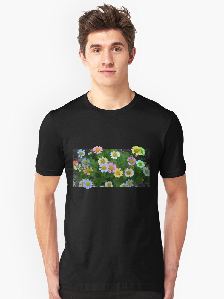 Coloured Daisies Unisex T-Shirt Front