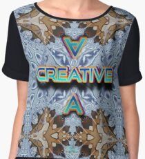 A Creative futuristic fractal pattern Chiffon Top