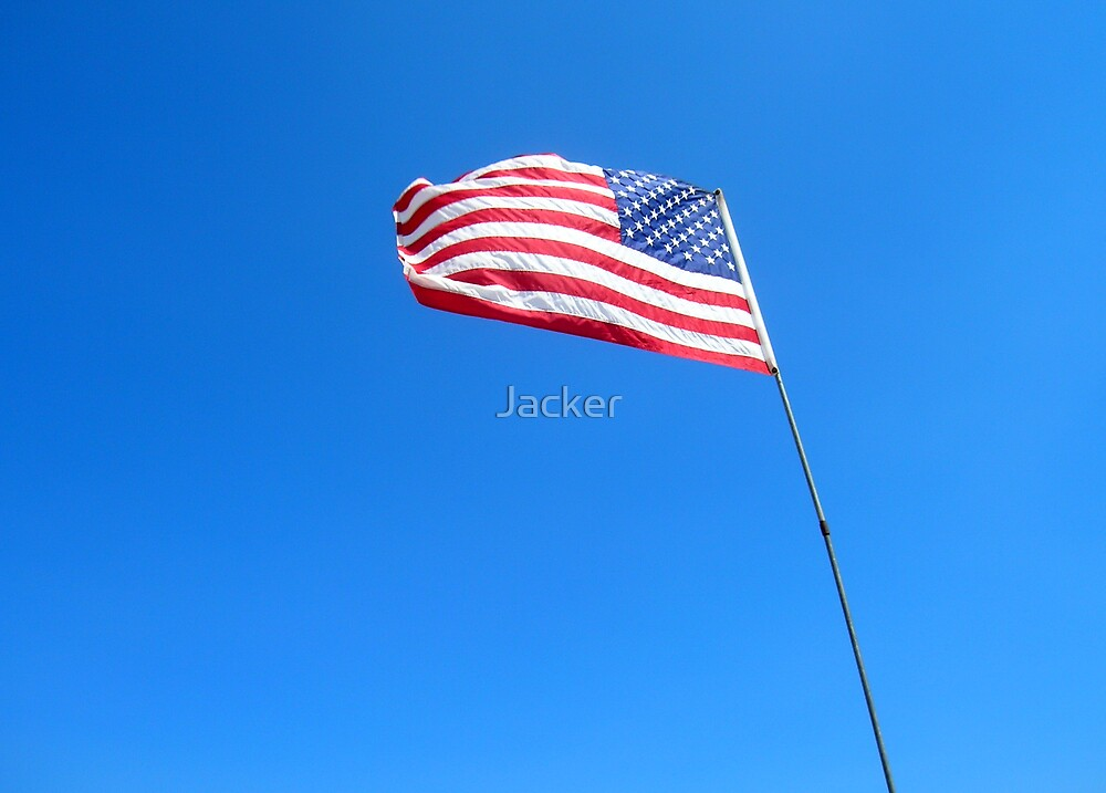 American flag by Jacker